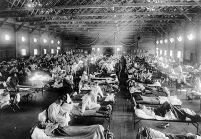 O surto de gripe espanhola em 1918 fez mais mortos do que os fronts da I Guerra
