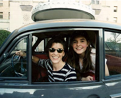 Amy e a filha Emily