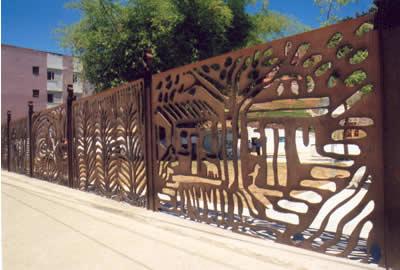 Painelque cerca a Praça de Oxum, na Casa Branca, de autoria do artista plástico baiano Bel Borba / Crédito: Secretaria de Cultura da Bahia