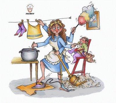 Na visão machista ainda vigente, infelizmente, mulher só é multitarefas dentro de casa
