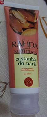 Creme Castanha Do Pará Rahda Naturals