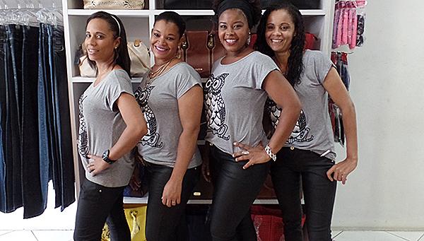 Esses é o time top da Loja Sale, as vendedoras Jaqueline, Jailda, Deise e Ana Célia