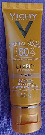Capital Soleil Clarify com Cor FPS 60 Vichy | foto: conversa de menina
