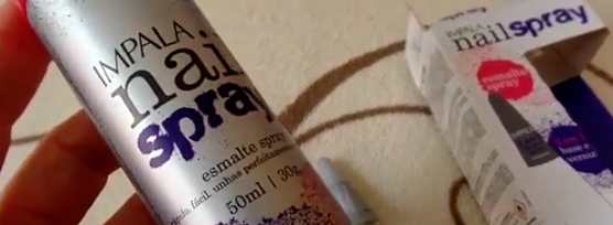 esmalte em spray impala | foto: conversa de menina
