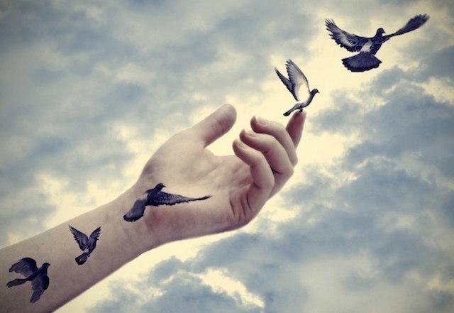 abrir mão deixar ir